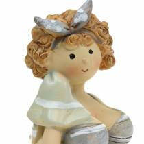 Decorative figure lady in swimsuit gray 10cm 2pcs