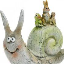 Friendly decorative snail with companions, spring, table decoration, domestic snail 2pcs