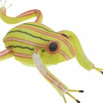 Decorative frogs with wire 7cm 3pcs assorted