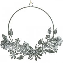 Spring decoration, decoration ring flowers, metal decoration, pendant flower decoration Ø16cm 2pcs