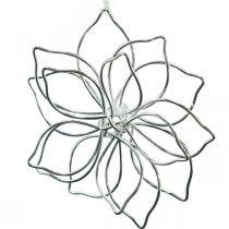 Spring decoration, wire flower, metal flower, wedding decoration, decoration pendant summer 6pcs