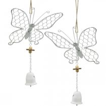 Spring decoration, metal butterflies, Easter, decoration pendant butterfly 2pcs