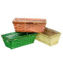 Spring basket 25x13x9cm orange, yellow, green 6pcs