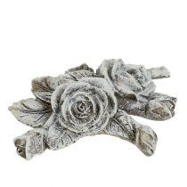 Rose for grave decoration polyresin 10cm x 8cm 6pcs