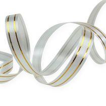 Split ribbon 2 gold strips on silver 10 mm 250m