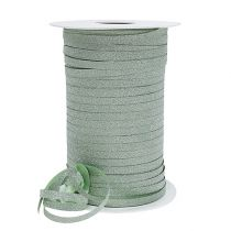 Gift ribbon with mica light green 5mm 150m