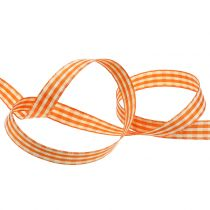 Gift ribbon diamonds orange 15mm 20m