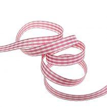 Gift ribbon diamonds pink 15mm 20m