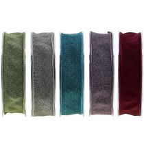 Gift ribbon single color matt 25mm 20m