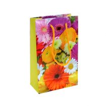 Gift bag with flowers 12cm x19cm 1p