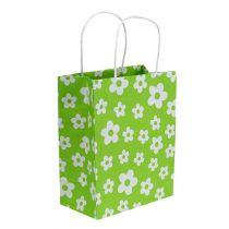 Gift bags green 20cm x 11cm x 25cm 8pcs