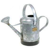 Decorative watering can metal planter hanging basket antique look 40 × 18 × 22cm