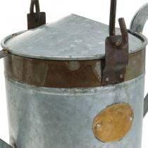 Decorative watering can metal planter retro look hanging basket 58 × 23 × 32cm