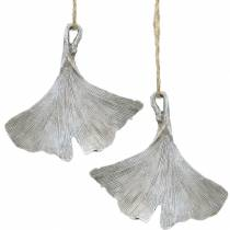 Grave decoration Ginkgo leaf to hang 10cm 3pcs