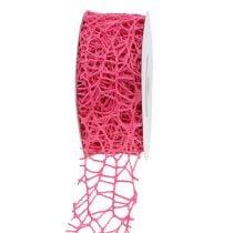 Mesh ribbon pink 40mm 10m