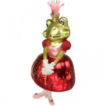 Frog princess, Christmas tree decorations, fairytale decorations, tree pendants, real glass H14cm 2pcs