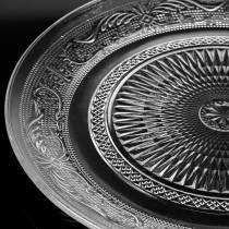 Glass plate antique Ø14.5cm 6pcs