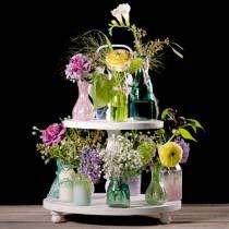 Glass vase peasant silver pink H11cm 6pcs