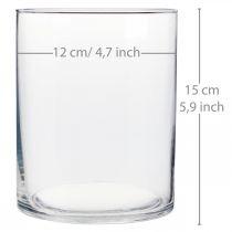 Glass vase Ø12cm H15cm