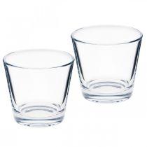 Glass vase clear Ø8.5cm H8cm 6pcs