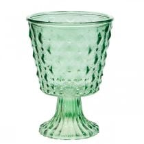 Glass lantern Ø11.5cmH15.5cm turquoise