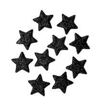 Glitter star black 2.5cm 100pcs