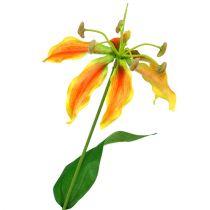 Gloriosa branch orange-yellow 90cm 1p