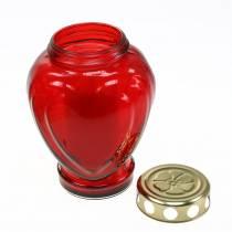 Grave light heart red 11.5cm x 8.5cm H17.5cm 4pcs
