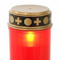 LED grave light red, warm white timer battery operated Ø6.8 H12.2cm