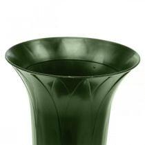 Grave vase 42cm dark green vase grave decoration funeral flowers 5pcs