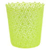 Crochet pot with insert green Ø18cm H20cm