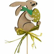 Bunny with Easter egg on a stick, flower plug Easter bunny, wooden decoration Easter, decorative plug, flower decoration 12pcs