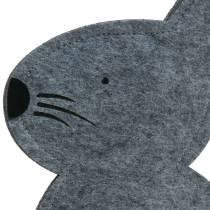 Sitting bunny felt gray 27cm x 6cm H40.5cm