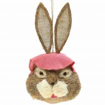 Easter decoration rabbit head for hanging straw H51cm