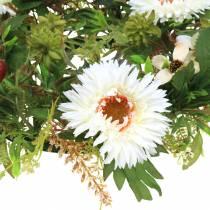 Autumn wreath chrysanthemum white Ø30cm