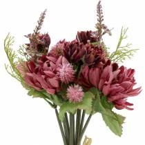 Chrysanthemum bouquet mix purple 35cm