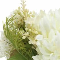 Chrysanthemum bouquet mix white 35cm