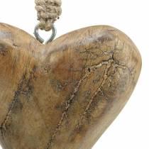 Heart to hang mango nature, golden 14 × 11cm 2pcs