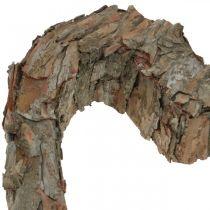 Deco heart open pine bark autumn decoration grave decoration 30 × 24cm