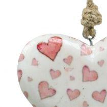 Deco hanger heart ceramic 11cm x 10cm