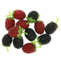 Raspberry mix red / black 4cm x 2cm 36pcs