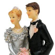 Wedding couple for silver wedding 14cm