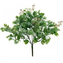 Wedding decoration eucalyptus branches with flowers decoration bouquet green, pink 26cm