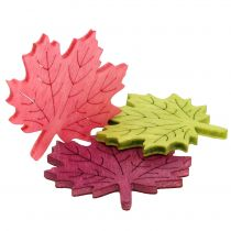Maple leaf wood for scattering assorted colors 4cm 72pcs