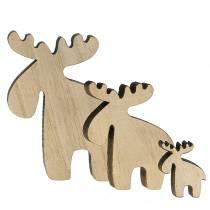 Wood elk for scattering nature 36pcs