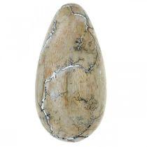 Easter egg mango wood natural white washed Easter decoration wood H16cm