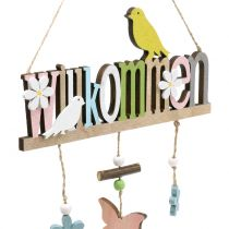 "Decorative hanger ""Welcome"" spring 22cm H43cm 2pcs"