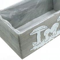 Wooden box set toadstool, autumn decorations, garden decorations, plant boxes L40 / 30cm, set of 2