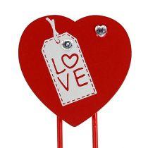 "Wooden clips heart ""Love"" decorative heart Valentine's gift 2pcs"
