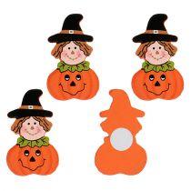Wooden pumpkin to glue 3.5cm orange 18pcs